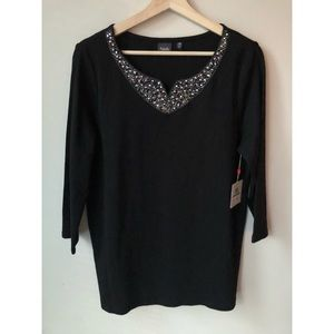 Rafaella • L • Sparkle Embellished Top